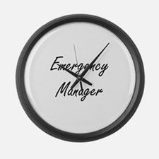 Emergency Manager Artistic Job De Large Wall Clock
