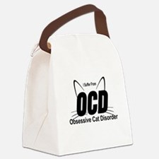 I SUFFER FROM OCD - OBSESSIVE CAT Canvas Lunch Bag