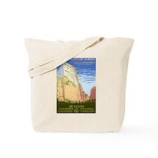 1930s Vintage Zion National Park Tote Bag