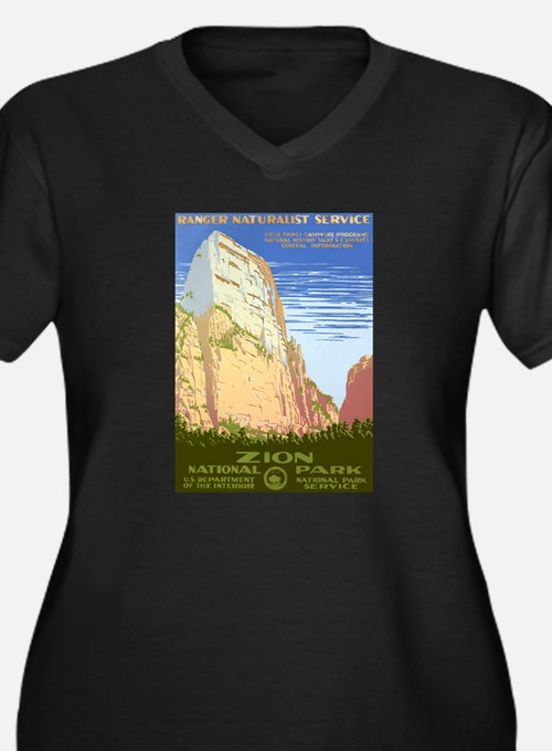 1930s Vintage Zion National Park Women's Plus Size