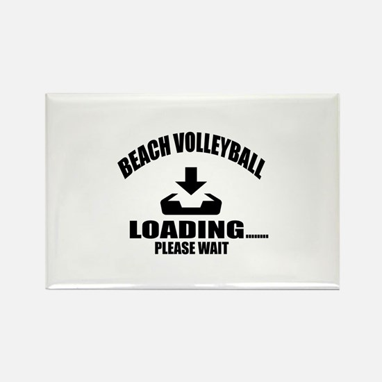 Beach Volleyball Loading Please W Rectangle Magnet