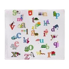 I Learn The Alphabet Throw Blanket