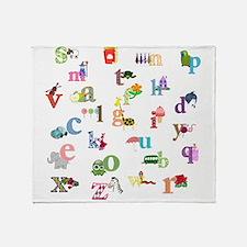 I Learn The Alphabet Throw Blanket