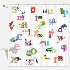I Learn The Alphabet Shower Curtain