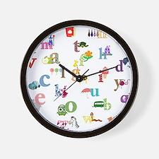 I learn the alphabet Wall Clock