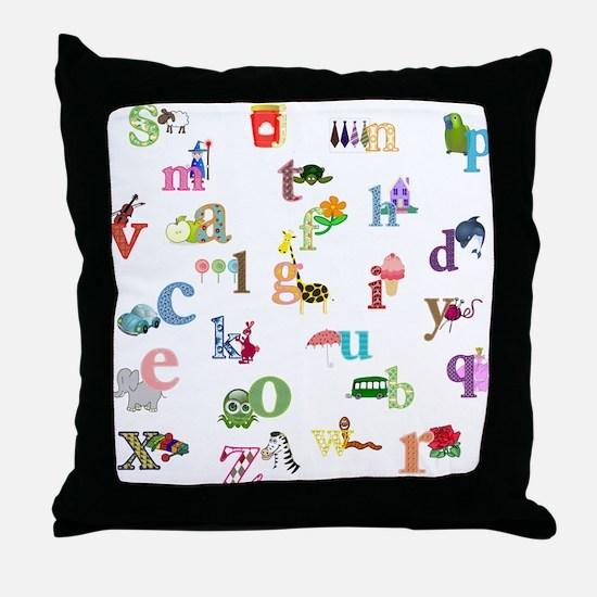 I learn the alphabet Throw Pillow