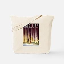1930s Vintage Wildlife WPA Poster Tote Bag