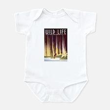 1930s Vintage Wildlife WPA Poster Infant Bodysuit