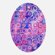 Pink Blue Glass Blocks Starshine for Oval Ornament