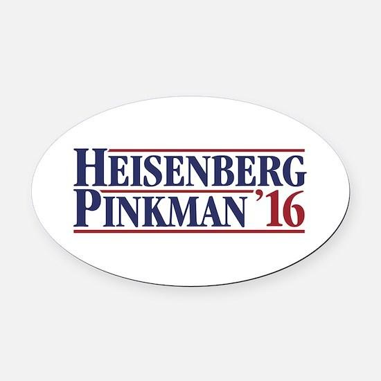 Heisenberg Pinkman '16 Oval Car Magnet
