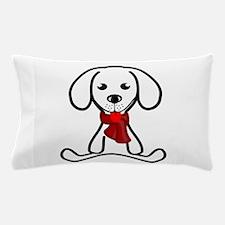 White Puppy Cartoon Pillow Case