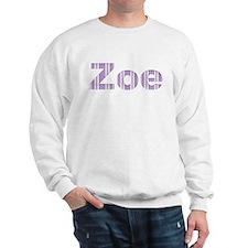 Zoe purple letters Sweatshirt
