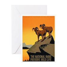 1930s Vintage Preserve Wildlife Greeting Card