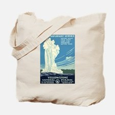 1930s Vintage Yellowstone National Park Tote Bag