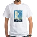 1930s Vintage Yellowstone National Park White T-Sh