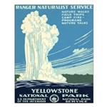 1930s Vintage Yellowstone National Park Small Post