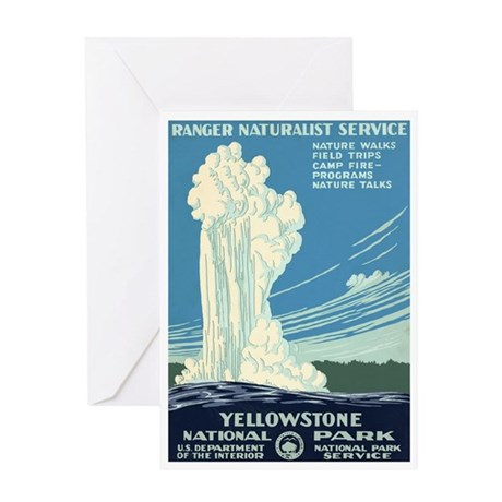 1930s Vintage Yellowstone Greeting Card
