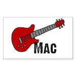 Guitar - Mac Rectangle Sticker