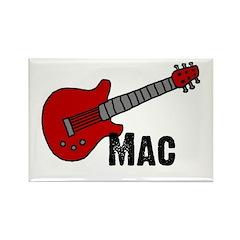 Guitar - Mac Rectangle Magnet