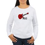 Guitar - Mac Women's Long Sleeve T-Shirt