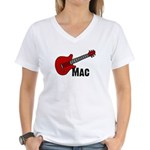 Guitar - Mac Women's V-Neck T-Shirt