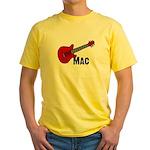 Guitar - Mac Yellow T-Shirt