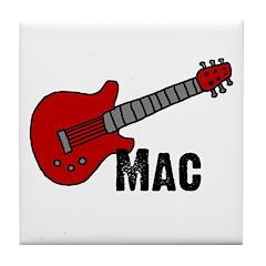 Guitar - Mac Tile Coaster