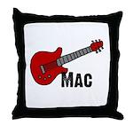 Guitar - Mac Throw Pillow