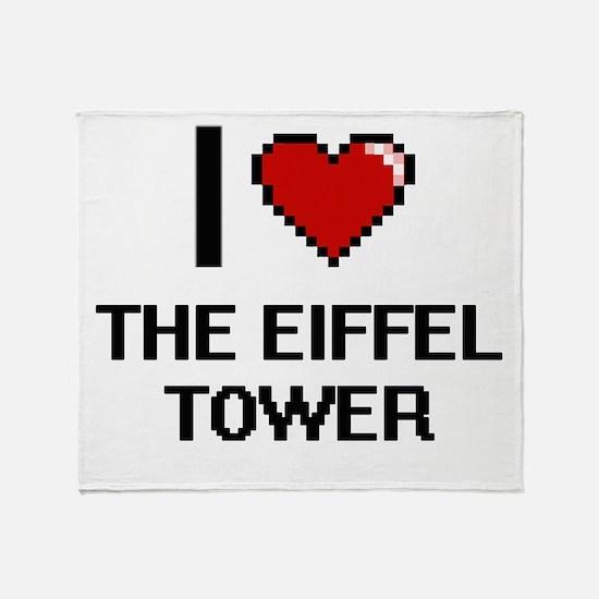 I love THE EIFFEL TOWER digital desi Throw Blanket