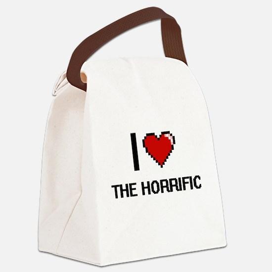 I love The Horrific digital desig Canvas Lunch Bag