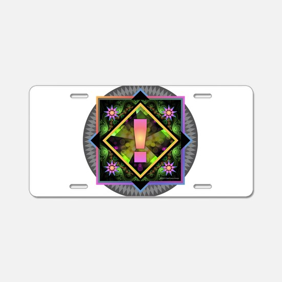 Rainbow Exclamation Aluminum License Plate