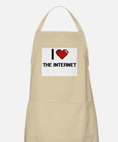 I love The Internet digital design Apron