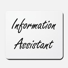 Information Assistant Artistic Job Desig Mousepad