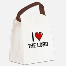 I love The Lord digital design Canvas Lunch Bag