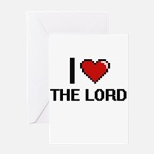 I love The Lord digital design Greeting Cards