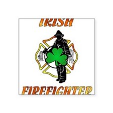 "Cute Firefighter Square Sticker 3"" x 3"""