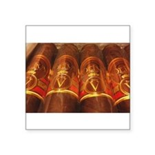 "Cute Cigar Square Sticker 3"" x 3"""