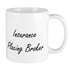 Insurance Placing Broker Artistic Job Design Mugs