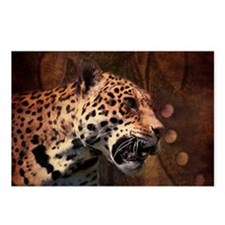 rustic wild safari leopa Postcards (Package of 8)