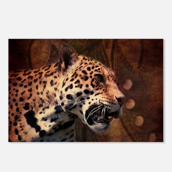 rustic wild safari leopa Postcards (Package of 8)