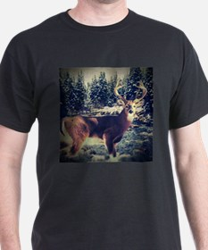 forest camo white tail deer T-Shirt