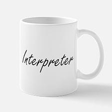 Interpreter Artistic Job Design Mugs