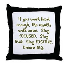 Eye On The Prize Dream BIG Design Throw Pillow