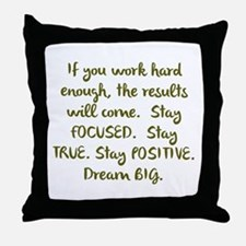 Eye On The Prize Dream BIG Design Throw Pillow