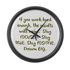 Eye On The Prize Dream BIG Design Large Wall Clock