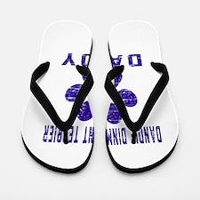Dandie Dinmont Terrier Daddy Designs Flip Flops