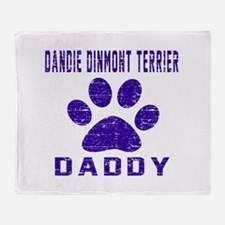 Dandie Dinmont Terrier Daddy Designs Throw Blanket
