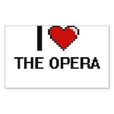 I love The Opera digital design Decal