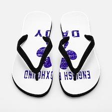 English Foxhound Daddy Designs Flip Flops