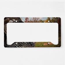 autumn landscape country turk License Plate Holder